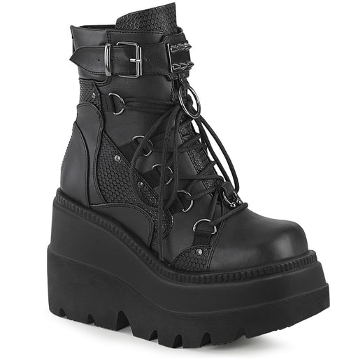 Demonia SHA60/BVL Drag Boots by Pleaser, available to buy at The Drag Room