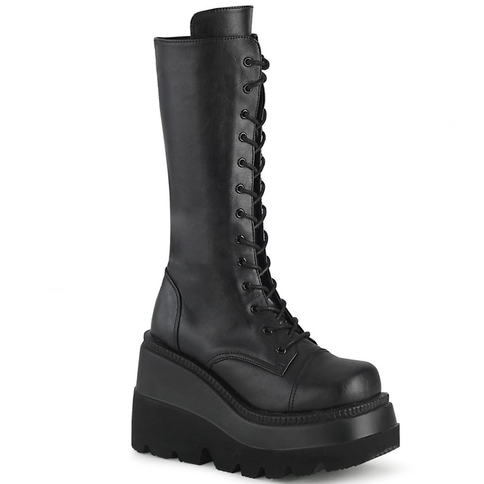 Demonia SHA72/BVL Drag Boots by Pleaser, available to buy at The Drag Room