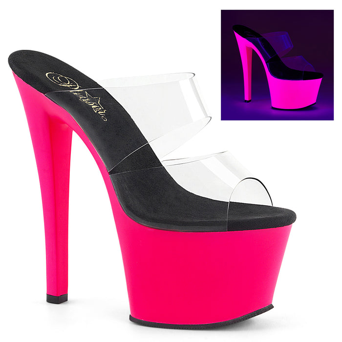 Pleaser SKY302UV/C/NHP Drag Platform Shoes by Pleaser, available to buy at The Drag Room