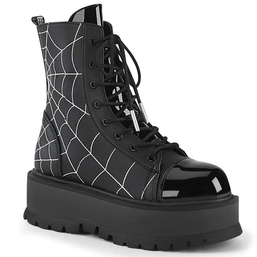 Demonia SLK88/BVL-PT Drag Boots by Pleaser, available to buy at The Drag Room
