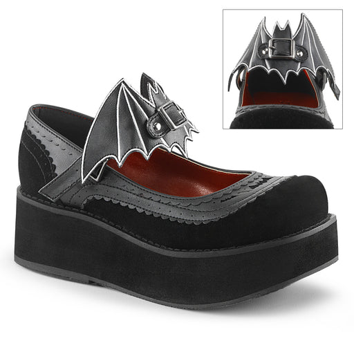 Demonia SPR09/BVL-VEL Drag Shoes by Pleaser, available to buy at The Drag Room