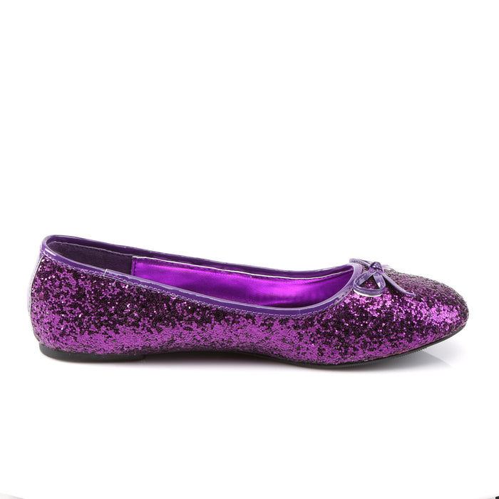 Funtasma STAR16G/PUR Drag Shoes by Pleaser, available to buy at The Drag Room