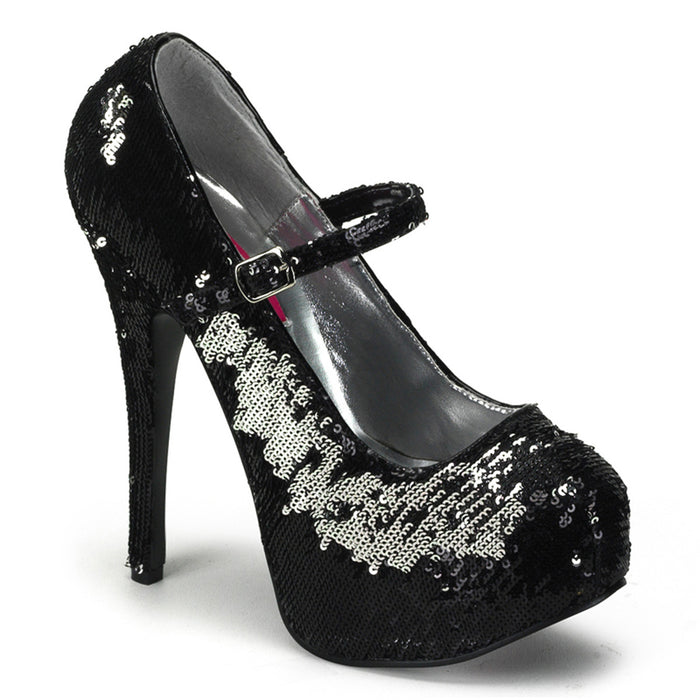 Bordello TEE07SQ/BS Drag Shoes by Pleaser, available to buy at The Drag Room