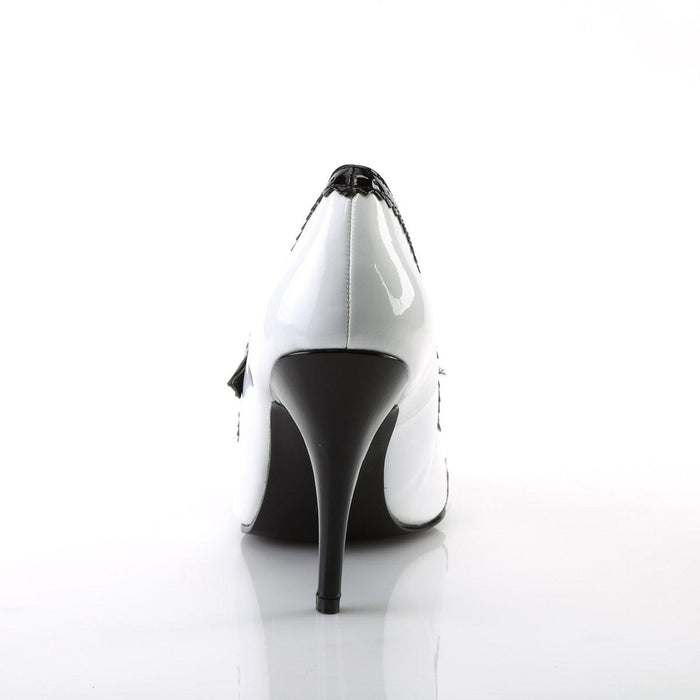 Pleaser VAN442/BW Drag Footwear by Pleaser, available to buy at The Drag Room