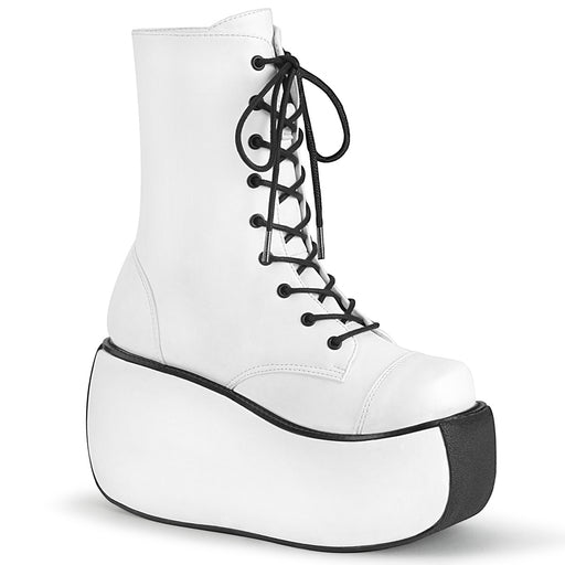 Demonia VIOLET120/WVL Drag Boots by Pleaser, available to buy at The Drag Room