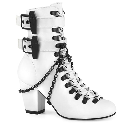 Demonia VIK128/WVL Drag Boots by Pleaser, available to buy at The Drag Room