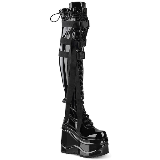 Demonia WAVE315/BPT Drag Boots by Pleaser, available to buy at The Drag Room