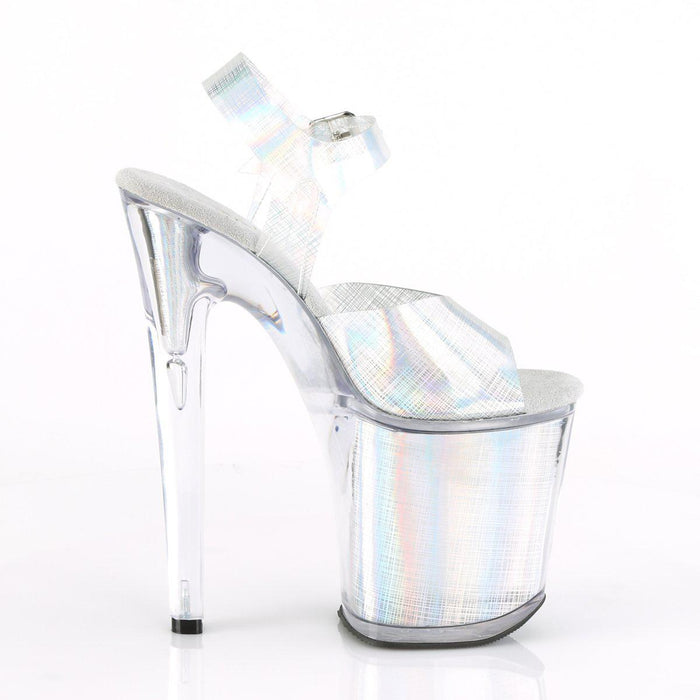 Pleaser XTM808N-CRHM/SHG/M Drag Platform Shoes by Pleaser, available to buy at The Drag Room