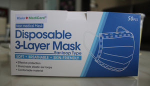 Kleio + MediCare™ Disposable 3-Layer Masks