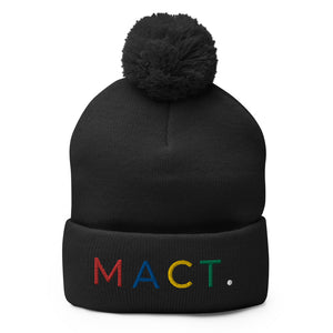 Multi-color Pom-Pom Beanie (3 Colors)