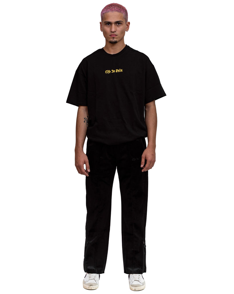 BLACK VELOURS TRACKPANTS