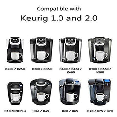 Maxware 4 Reusable Refillable Coffee Filters For Keurig Family 2.0 and 1.0 Brewers Fits K200, K300/K350/K360,/K450/K460, K500/K550/K560 (Purple, 4)