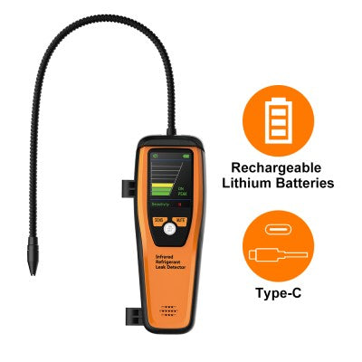 Ask An Expert Elitech ILD-100 Advanced Infrared Refrigerant Leak Detector Rechargeable Lithium-ion Battery