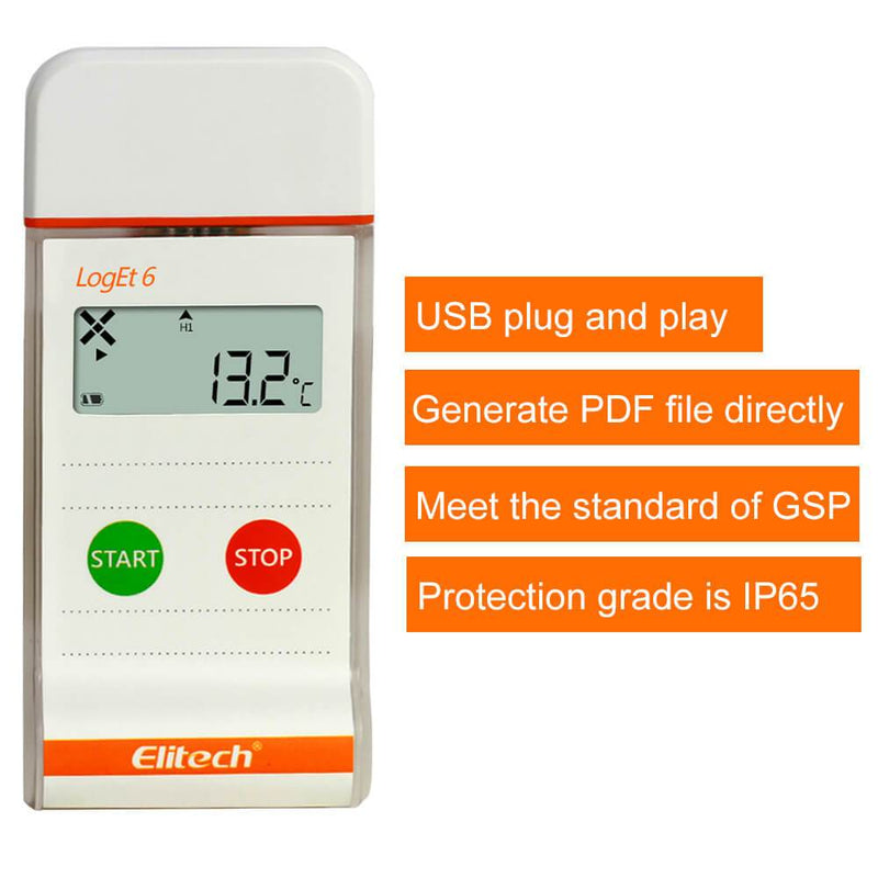 Elitech LogEt-6 Single Use Temperature Data Logger, Vaccine and Pharmaceutical Data Logger, Disposable Temperature Recorder for Vaccine and Pharmaceutical - ELITECH UK