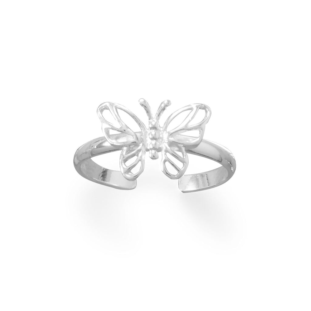 Pretty Butterfly Toe Ring