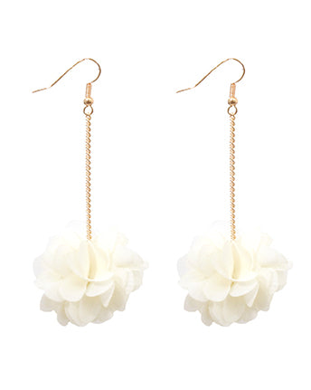Blossom Earrings - White
