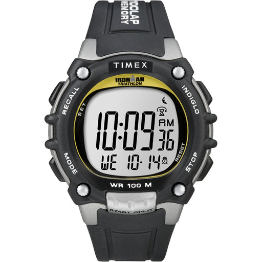 Timex Ironman Traditional 100-Lap - Black/Silver/Yellow Watch [T5E231] - Off The Grid Collective