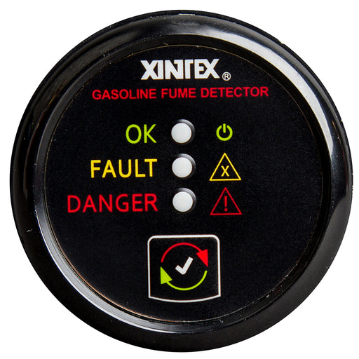 Xintex Gasoline Fume Detector & Alarm w/Plastic Sensor - Black Bezel Display [G-1B-R] - Off The Grid Collective