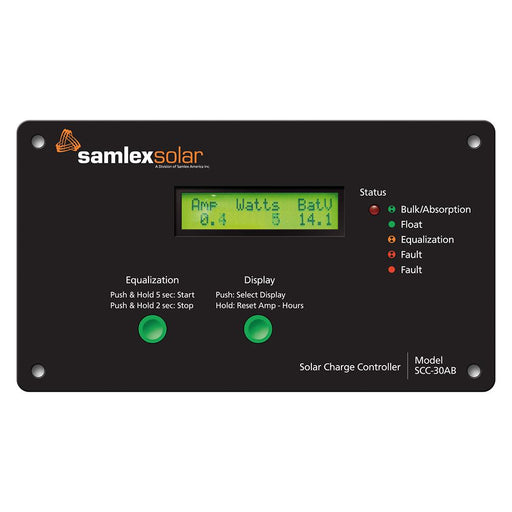 Samlex Flush Mount Solar Charge Controller w/LCD Display - 30A [SCC-30AB] - Off The Grid Collective