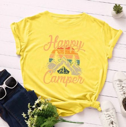 Happy Camper Short Sleeve T-shirt - Off The Grid Collective