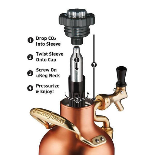 Growlerwerks UKeg 64oz Copper Growler - Off The Grid Collective