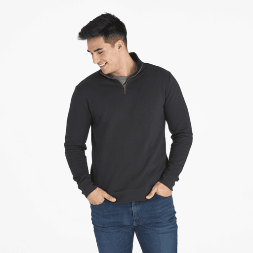Men's Woven Logo Simply True Quarter Zip - Off The Grid Collective