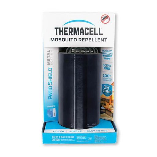 Thermacell Patio Shield Mosquito Repeller Metal Edition - Obsidian - Off The Grid Collective