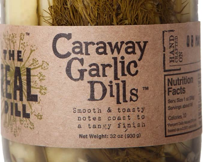 The Real Dill Caraway Garlic Dills - Off The Grid Collective
