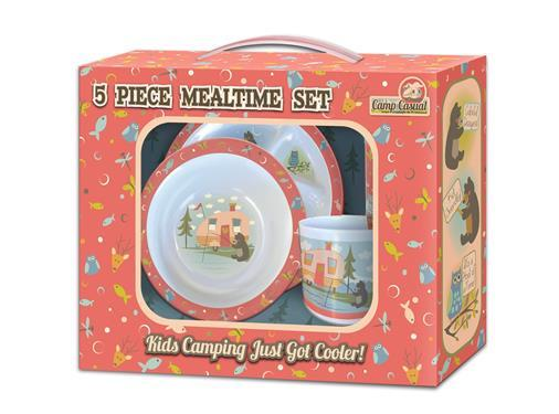 Camp Casual 5 piece kid melamine dish set - Off The Grid Collective