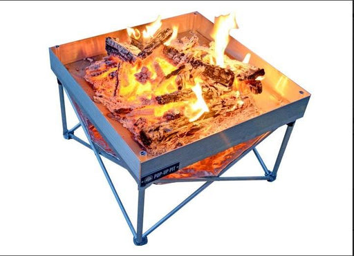 Fireside Outdoor Pop Up Pit and Heat Shield Combo - Off The Grid Collective