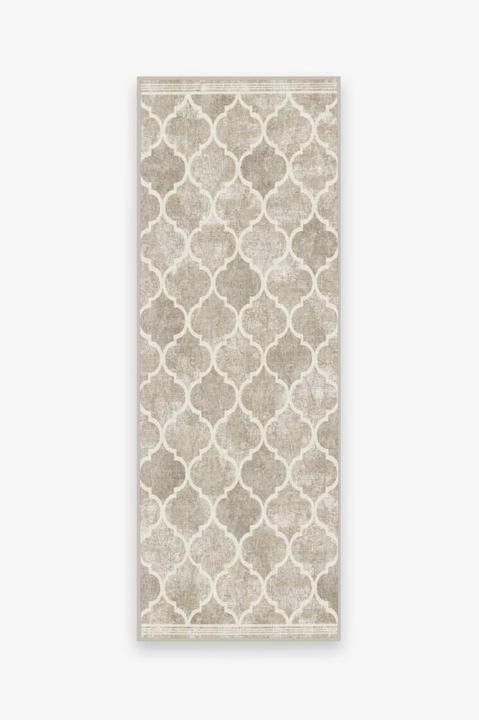 Ruggable Runner Rug Terali Ash Grey - 2-1/2 Foot x 7 Foot - Off The Grid Collective