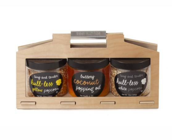 Wabash Family Farms Hull-Less Popcorn Wooden Crate Set
