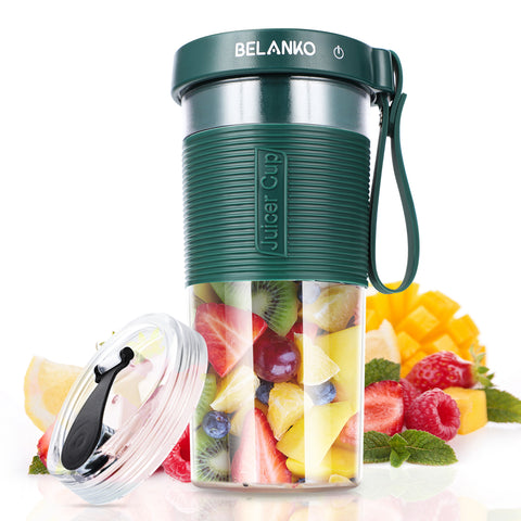 BELANKO 320/600 ML Portable Blender with USB Rechargeable - Dark Green