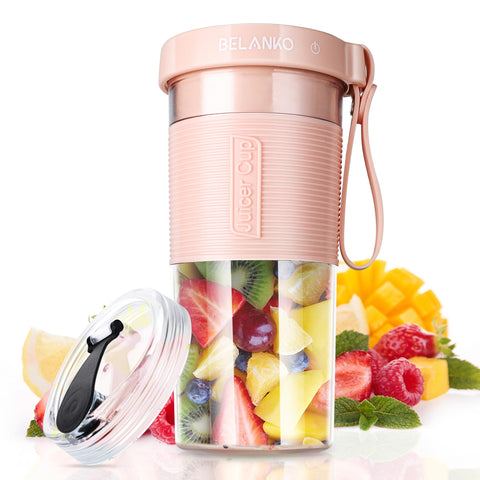 BELANKO 320/600 ML Portable Blender with USB Rechargeable - Pink
