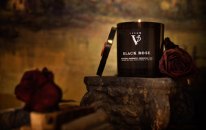 Pack of 3 Candles - 2 BLACK ROSE & 1 EVERGLADES