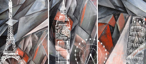 Three Iconic Buildings Wall Art