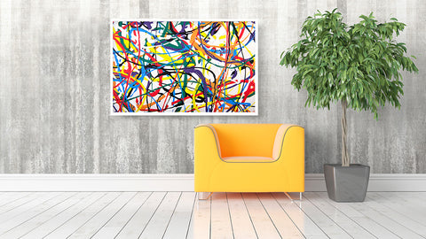 Endless Dance of Colours Wall Art