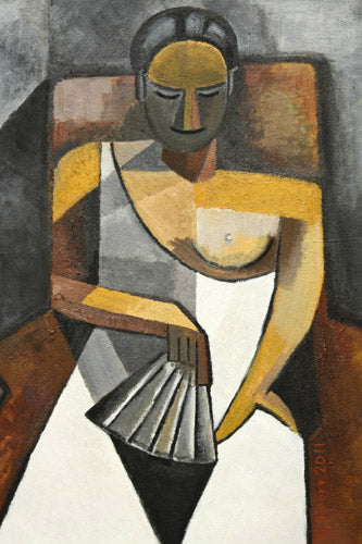 Abstract Picasso Style of Woman