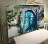 Blue Door Architecture Wall Art