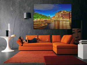 Famous Amstel River and Night Wall Art