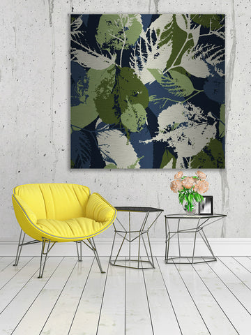 Green and Blue Leaves Wall Art