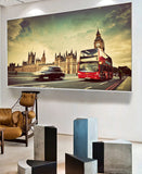 London the UK Red Bus Taxi Wall Art