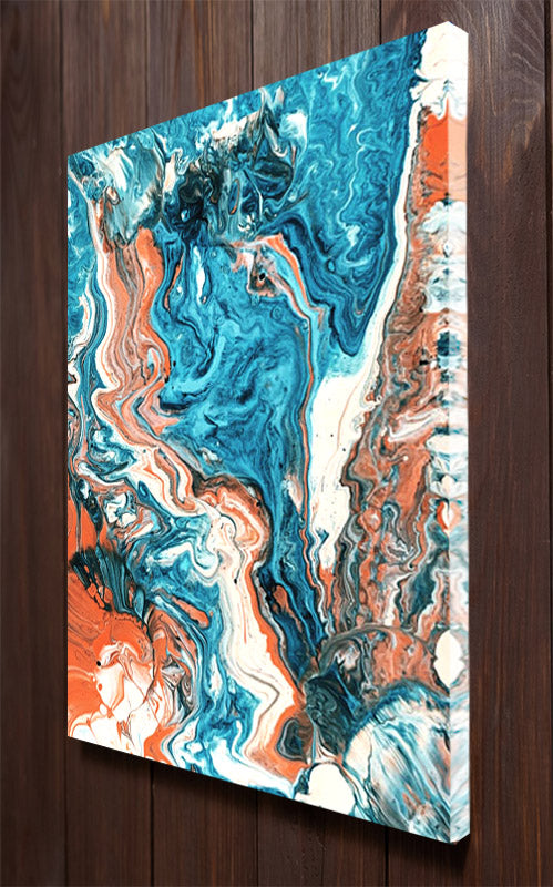Marble, Blue and Brown Wall Art