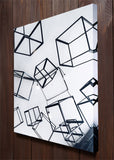 Metal Cubes Art Wall Art
