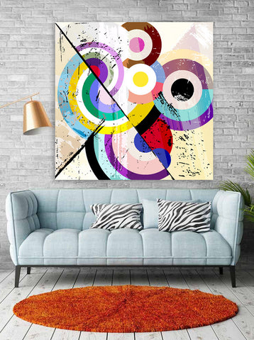 Mondrian Loop Wall Art