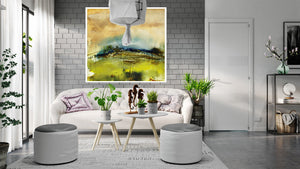 The enchanted field canvas art