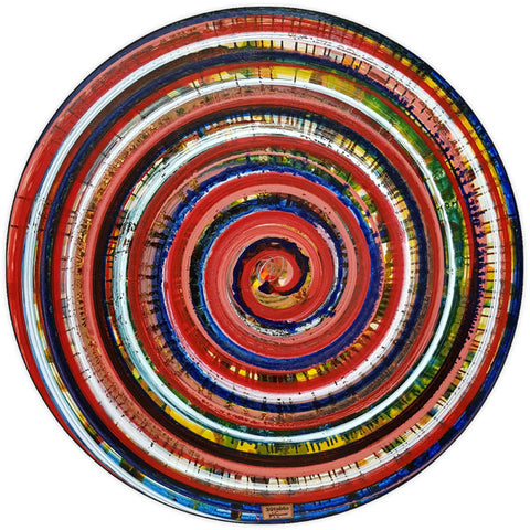 Round and Round Circular Wall Art