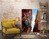 Striking Building Facade Wall Art