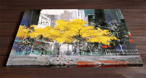 Yellow Trees Art