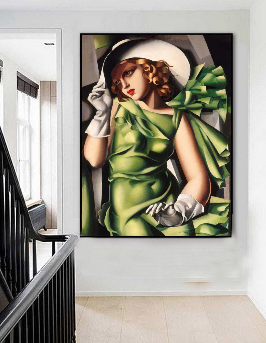 Young Lady with Gloves Wall Art